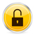 Logo of a Padlock on a Yellow Background